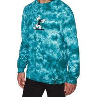 限定モデル HUF ハフ Popeye ポパイ 長袖 Tシャツ ロンT コラボデザイン tiedye タイダイ MINT ミント 緑青 USA正規品 LA 西海岸