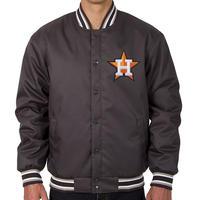 【SALE】 JHデザイン Houston ヒューストン Astros アストロズ GENUINE MERCHANDISE スタジャン グレー ワンポイント MLB メジャーリーグ