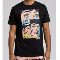 日本未入荷 BLACK PYRAMID ブラックピラミッド SHES CALLING Tシャツ 半袖 黒 ブラック アメコミ