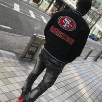 JHデザイン NFL サンフランシスコ 49ers フォーティーナイナーズ 公式 リバーシブル スタジアムジャンパー アメフト スタジャン