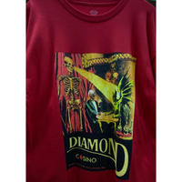 【M】 Diamond Supply Co ダイヤモンドサプライ 半袖 Tシャツ Casino カジノ 赤 LA ストリート スケーター