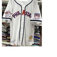 NEGRO LEAGUE 『フィラデルフィア スターズ』 公式 ベースボールシャツ 野球 ユニフォーム 背番号11 白 紺 赤