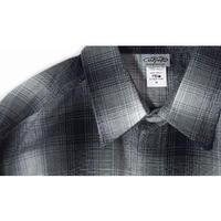 LA発祥 アメリカ製 CALTOP キャルトップ フランネル チェック 長袖 ボタンシャツ Grey グレー 西海岸 ローライダー ヒスパニック