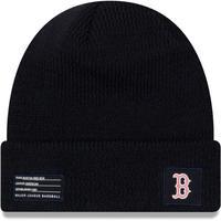 NEWERA ニューエラ MLB ニット帽 ボストン RedSox レッドソックス 紺 ネイビー USA正規品 メジャーリーグ YOUTH 防寒