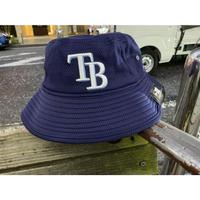 REDUX ニューエラ NEWERA タンパベイ TB レイズ Rays 公式 BUCKET バケットハット 紺 フリーサイズ MLB メジャーリーグ