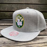 Mitchell&Ness ミッチェル&ネス NBA ボストン Boston セルティックス Celtics 公式 スナップバックキャップ グレー 帽子 バスケット