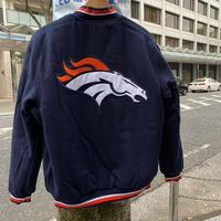 NLF公認 JH DESIGN  JHデザイン Broncos デンバー ブロンコス 紺 オレンジ NFL リバーシブル スタジアムジャンパー スタジャン アメフト