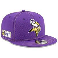 スナップバックキャップ 限定 NFL 100周年記念モデル NEWERA ニューエラ 公式 Vikings ミネソタ バイキングス 紫 オフィシャルアイテム 9Fifty アメフト