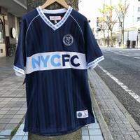 MITCHELL&NESS ミッチェル&ネス MLS Vネック NYC FC ユニフォーム サッカー