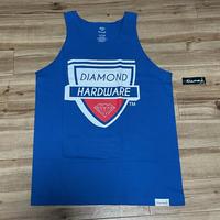 米国製 【L】 ダイヤモンドサプライ Diamond Supply Co タンクトップ 青 HARDWARE スケーター