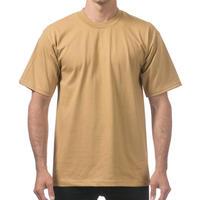米国製 PROCLUB プロクラブ HEAVY WEIGHT ヘビーウェイト Tシャツ 無地 マスタード 6.5 OZ  綿100%