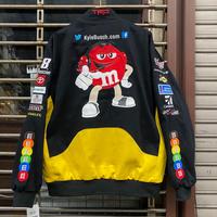 NASCAR ナスカー 2021限定モデル JHデザイン レーシングジャケット 刺繍 KYLE BUSCH M&M's