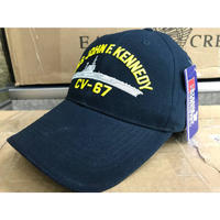 EAGLECREST イーグルクレスト 米海軍 CV67 空母 ジョンFケネディ 刺繍 ミリタリー ボールキャップ 帽子 ネイビー NAVY サイズ調節可
