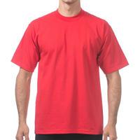 【全国どこでも送料無料】米国製 PROCLUB プロクラブ HEAVY WEIGHT ヘビーウェイト Tシャツ 無地 USA 西海岸 LA 赤 RED 6.5 OZ  綿100%