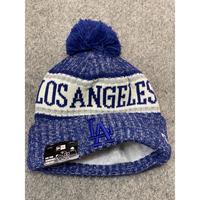 NEWERA ニューエラ LA ロサンゼルス Dodgers ドジャース ニット帽 ニットキャップ 青 ポンポン付 フリース MLB メジャーリーグ