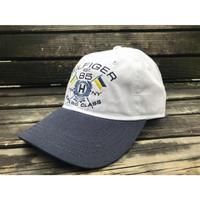 海外限定モデル TOMMY HILFIGER トミーヒルフィガー SAILING ストラップバックキャップ 帽子 セイリング ローキャップ 白 紺 2トーン サイズ調節可
