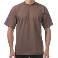 【全国どこでも送料無料】米国製 PROCLUB プロクラブ HEAVY WEIGHT ヘビーウェイト Tシャツ 無地 USA 西海岸 LA 茶色 ブラウン 6.5 OZ 綿100%