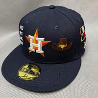 59FIFTY ニューエラ Newera 限定モデル ヒューストン Astros アストロズ 紺 MLB エリアコード AreaCode ロケット 保安官