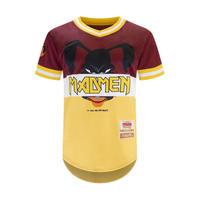 【SALE】 USA限定 BlackKyes ブラックキーズ 野球 ベースボールシャツ Vネック ToonGang 黄色 マッドマン MADMEN アメコミ USA
