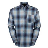 LA発祥 アメリカ製 CALTOP キャルトップ フランネル チェック 長袖 ボタンシャツ 水色 ライトブルー  グレー 西海岸 ローライダー ヒスパニック