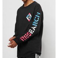 USA規格 LRG エルアールジー 長袖 Tシャツ ロンT 黒 BOXグラフィック 綿100%