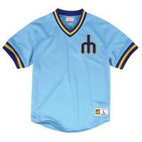 Mitchell&Ness ミッチェル&ネス MLB ベースボールジャージ TeamWin ユニフォーム MARINERS シアトル マリナーズ USA正規品 水色