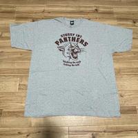 【2XL】 Stussy ステューシーPANTHERS パンサー 半袖 グラフィック Tシャツ グレー ブラック ストリート 西海岸  (45)