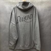 ラスト1 【3XL】 ダイヤモンドサプライ Diamond supply co. スウェット プルオーバー パーカー LA ゴシックロゴ 灰色 グレー