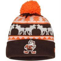 Newera ニューエラ 公式 クリーブランド Browns ブラウンズ NFL ポンポン ニット帽 ニットキャップ アメフト USA正規品