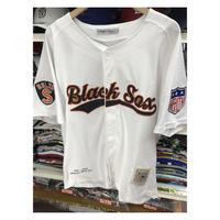 NEGRO LEAGUE 『ボルチモア ブラックソックス』 公式 ベースボールシャツ 野球 ユニフォーム 背番号10 白 オレンジ 黒