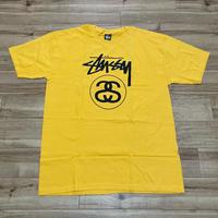 【L】 Stussy ステューシー 半袖 ショーンフォント SSリンクロゴ Tシャツ 黄色 ストリート カリフォルニア 西海岸 綿100% (15)
