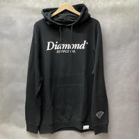 ラスト1  【XL】 ダイヤモンドサプライ Diamond supply co. スウェット 黒 プルオーバー パーカー LA ベーシックロゴ 裏起毛