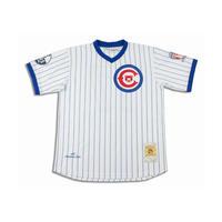 ラスト1着 NEGRO LEAGUE 『クリーブランド Cubs カブス』 公式 ベースボールシャツ 野球 ユニフォーム Vネック No17 白 ピンストライプ