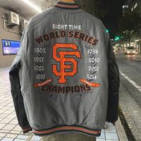 MLB公認  JH design JHデザイン SF ジャイアンツ GIANTS 限定 チャンピオンズ記念 リバーシブル メルトン スタジアムジャケット スタジャン