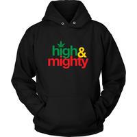 NY発 Mighty Healthy マイティーヘルシー HighMighty ハイマイティ プルオーバー パーカー 黒 ラスタカラー ブラック