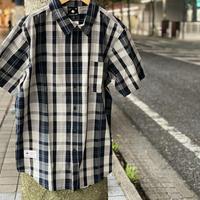 LRG エルアールジー USA正規品 チェック柄 グレー GREY 半袖 ボタンシャツ 綿100%