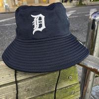 REDUX ニューエラ NEWERA デトロイト TIGERS タイガース 公式 BUCKET バケットハット 紺 フリーサイズ MLB メジャーリーグ