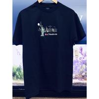 USA正規品 HUF ハフ GIFTSHOP ギフトショップ 半袖 クルーネック Tシャツ 自由の女神 NY 刺繍 コットン100% ネイビー 紺 ストリート