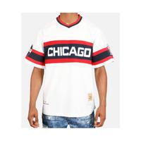 NEGRO LEAGUE 『シカゴ アメリカン Giants ジャイアンツ』 公式 ベースボールシャツ 野球 ユニフォーム Vネック No45 白 紺 赤
