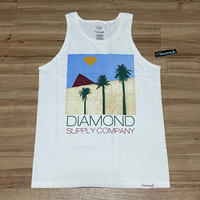 米国製 【M】 ダイヤモンドサプライ Diamond Supply Co タンクトップ 白 Pyramid ストリート