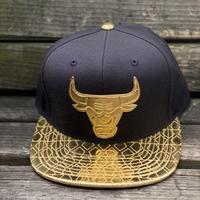 限定 Mitchell&Ness ミッチェル&ネス NBA シカゴ Bulls ブルズ 黒 金 DNA スナップバックキャップ 帽子 HWC バスケット