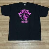 【2XL】 Stussy ステューシーPANTHERS パンサー 半袖 グラフィック Tシャツ 黒 ブラック ストリート 西海岸 コットン100% (28)