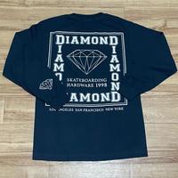 USA製 【S】 Diamond Supply Co. ダイヤモンドサプライ 長袖 Tシャツ 紺 ロンT スクエアロゴ (TL6)