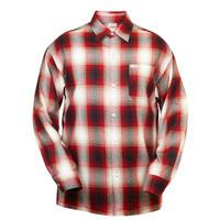 LA発祥 アメリカ製 CALTOP キャルトップ フランネル チェック 長袖 ボタンシャツ 赤 レッド 西海岸 ローライダー ヒスパニック