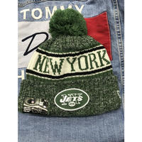 NEWERA ニューエラ NY ニューヨーク Jets ジェッツ NFL 公式 ニット帽 ポンポン 公式 ニットキャップ 極暖 フリース アメフト
