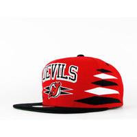 Mitchell&Ness ミッチェル&ネス NHL ニュージャージー Devils デビルス 公式 スナップバック キャップ USA正規品 サイズ調節可 アイスホッケー