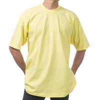 米国製 PROCLUB プロクラブ HEAVY WEIGHT ヘビーウェイト Tシャツ 無地 黄色 6.5 OZ  綿100%