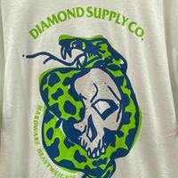 【M】 Diamond Supply Co ダイヤモンドサプライ 半袖 Tシャツ Venom ヴェノム 白 ドクロ 蛇 LA ストリート スケーター