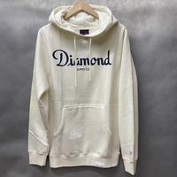ダイヤモンドサプライ Diamond supply co. スウェット Champagne プルオーバー パーカー LA クリーム 生成り シャンパンロゴ