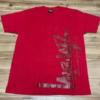 【M】Stussy ステューシー 立体ショーンフォントロゴ 半袖 Tシャツ 赤 ストリート 西海岸 スケーター 綿100%  (41)